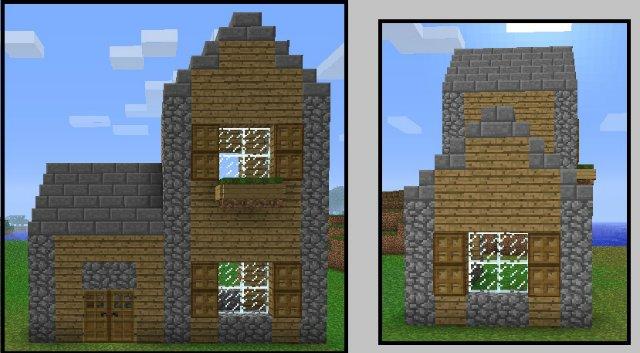 Схема простого домика.